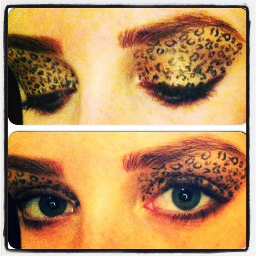 Leopard Print Eyeshadow Makeup Tutorialmake Up My Mind